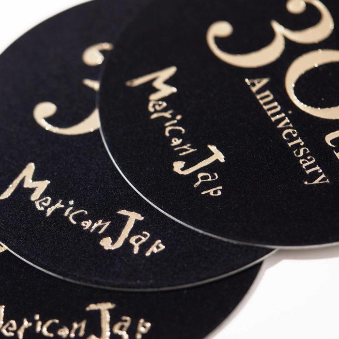 Merican Jap(メリケンジャップ) 30周年 記念コースター 制作 3