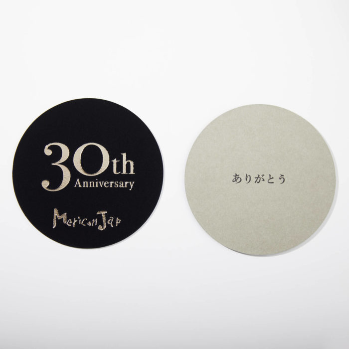 Merican Jap(メリケンジャップ) 30周年 記念コースター 制作 4